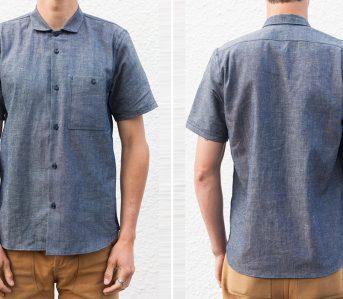 Grease-Point-Workwear-Indigo-Linen-Chambray-Shirt-front-back