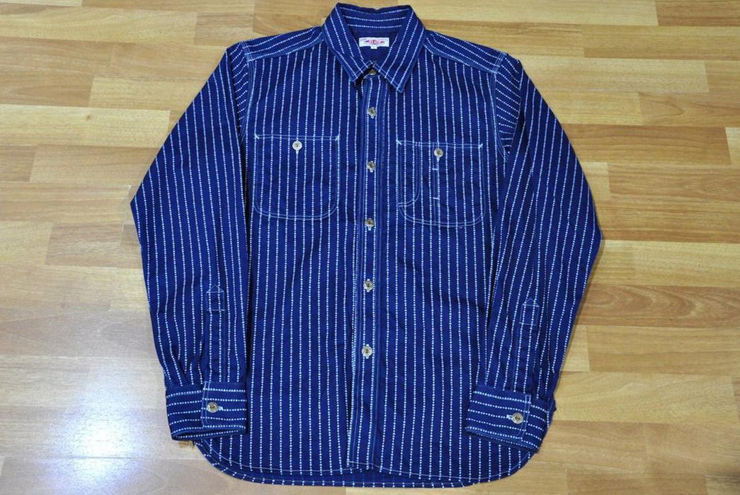 Jelado-10oz-Indigo-Dyed-'Poker'-Wabash-Shirt-front