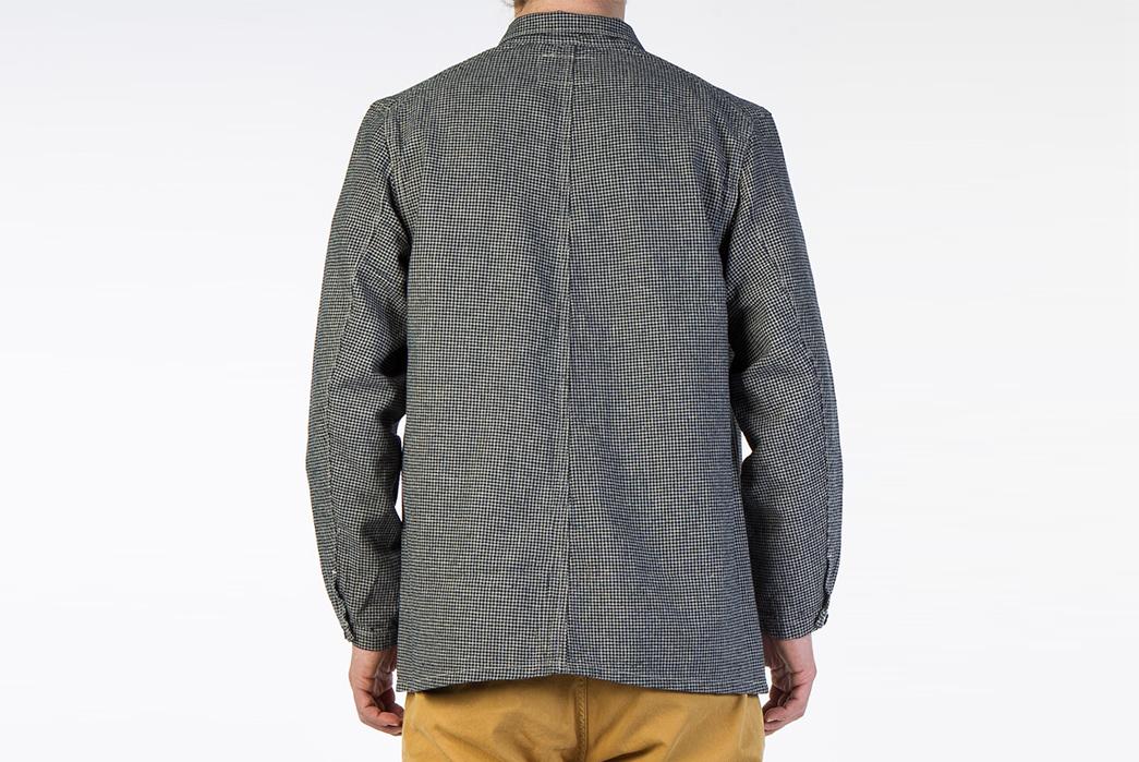 Levi's-Vintage-Clothing-Lot-3356-Indigo-Check-Sack-Coat-model-back