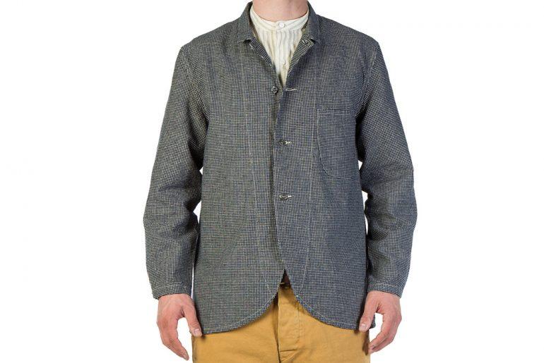 Levi's-Vintage-Clothing-Lot-3356-Indigo-Check-Sack-Coat-model-front