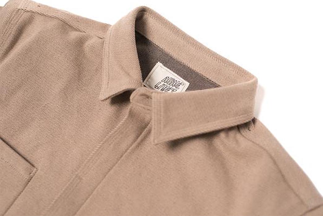 Nine-Lives-Heavyweight-Chino-Twill-Work-Shirt-khaki-front-collar