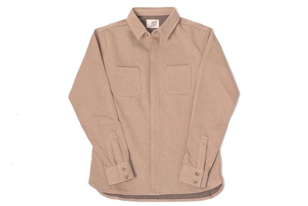 Nine-Lives-Heavyweight-Chino-Twill-Work-Shirt-khaki-front