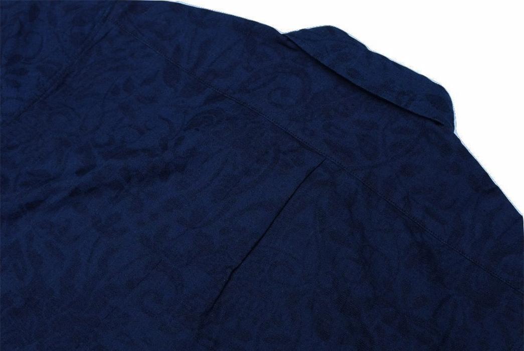 Okayama-Denim-x-Momotaro-Indigo-Jacquard-Paisley-Aloha-Shirt-back-top