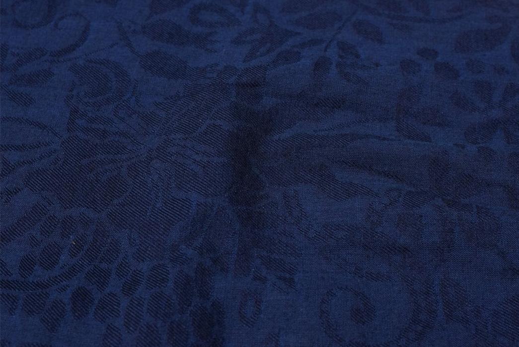 Okayama-Denim-x-Momotaro-Indigo-Jacquard-Paisley-Aloha-Shirt-detailed-2