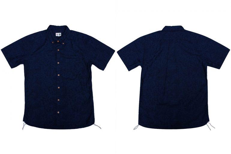 Okayama-Denim-x-Momotaro-Indigo-Jacquard-Paisley-Aloha-Shirt-front-back</a>