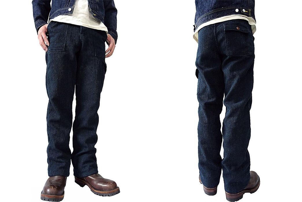 Samurai-SJAP17-SK-Sashiko-Army-Pants-model-front-back