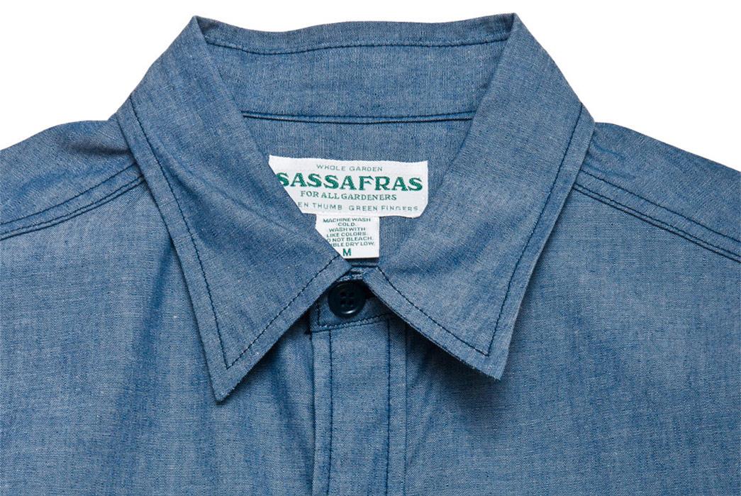 Sassafras-1-2-Chambray-G.D.U.-Shirt-front-collar