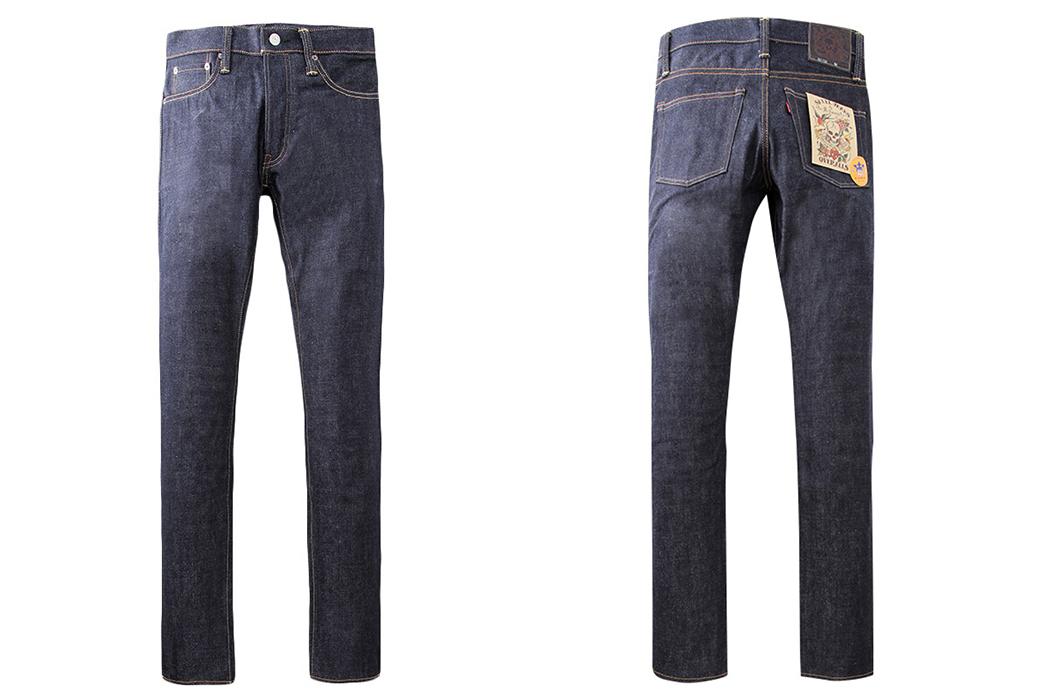 Skull-Jeans-5010XX-6x6-Texas-Cotton-Raw-Denim-Jeans-front-back