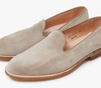 Slipper-Style-Loafers---Five-Plus-One-4)-Alden-Harvie-Slip-On-in-Milkshake-pair-