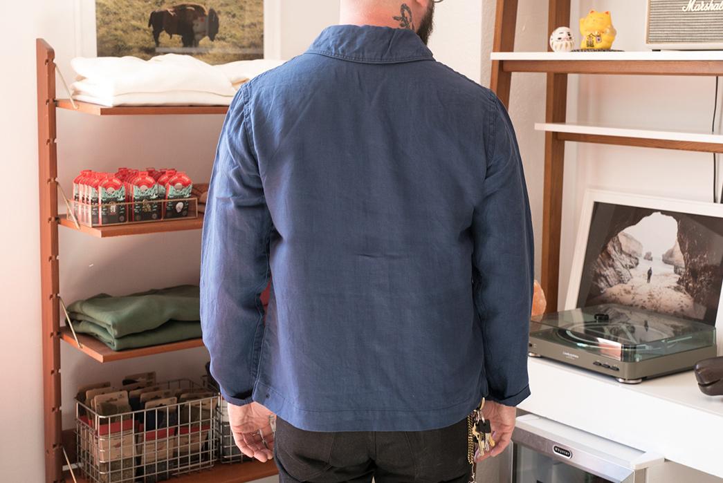 Stevenson-Overall-Seaman-Shawl-Collar-Deck-Jacket-model-back