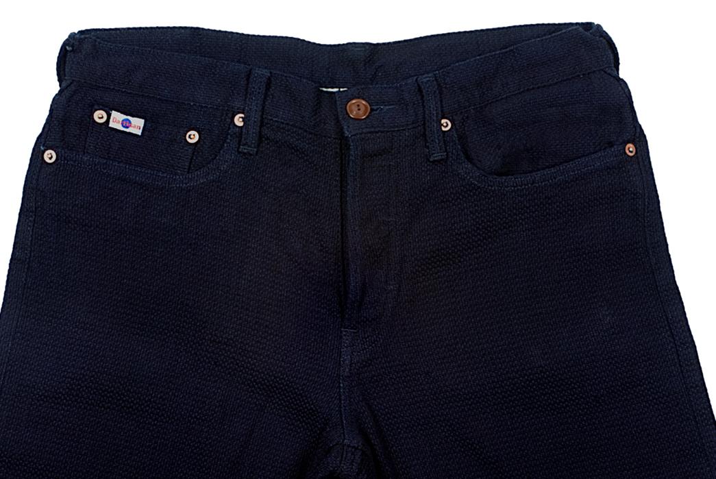 Studio-D'artisan-Indigo-Dyed-Sashiko-Jeans-front-top