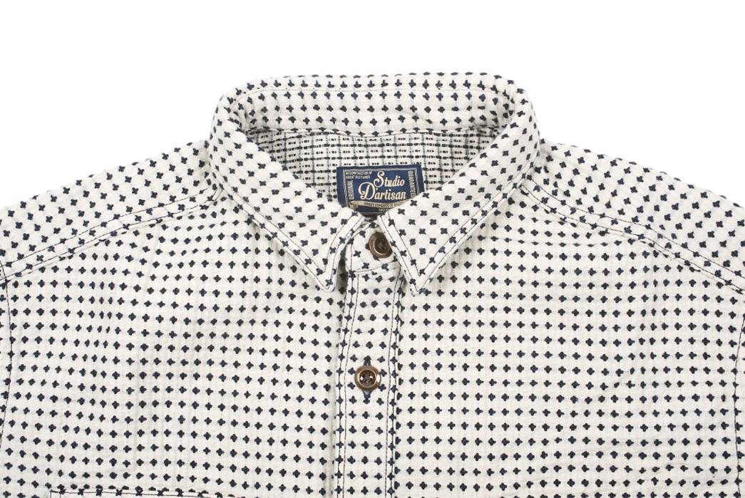 Studio-D'artisan-Strawberry-Cough-Dobby-Short-Sleeve-Shirt-front-top