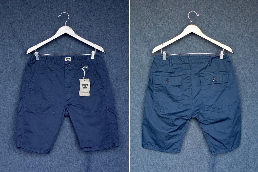 Tellason-8.5oz.-Cotton-Twill-Fatigue-Shorts-navy-front-back