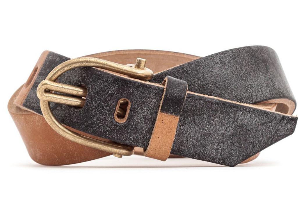 Tender-Type-211-Oak-Bark-Leather-U-Belt-folded