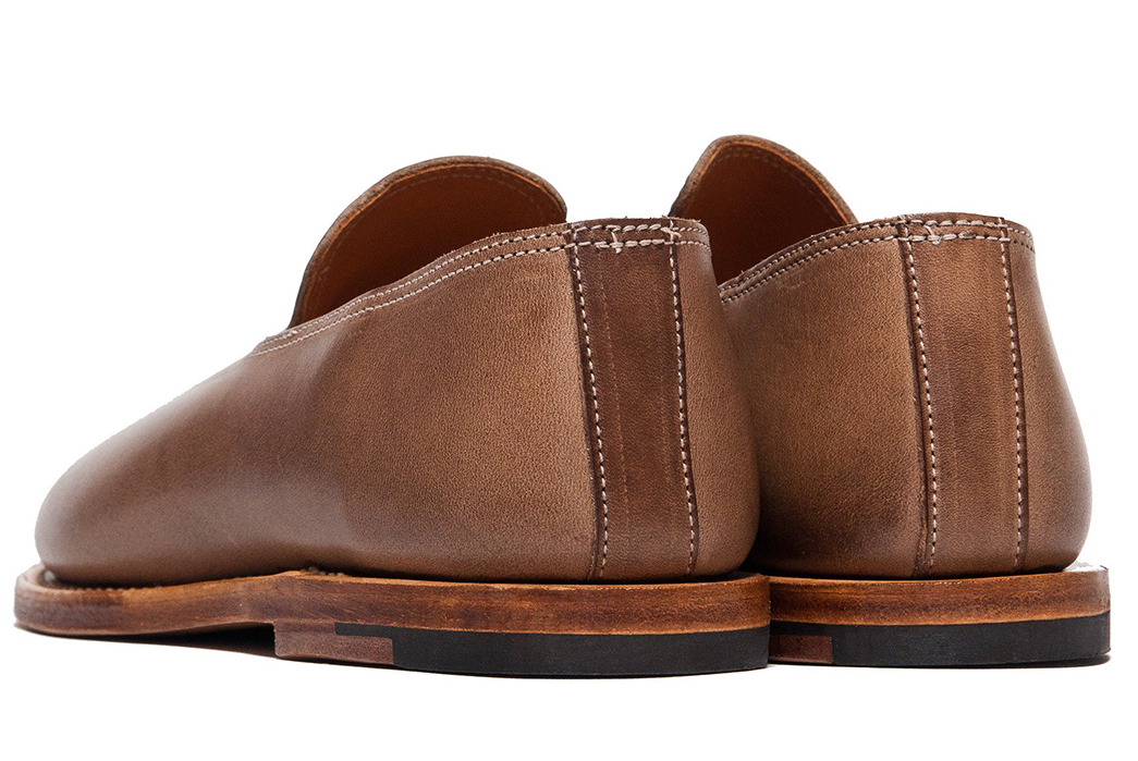 Viberg-Goes-Low-with-Natural-Chromexcel-Slippers-pair-back