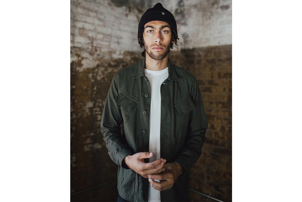3sixteen-Fall-Winter-2017-Lookbook-male-in-green-grey-shirt