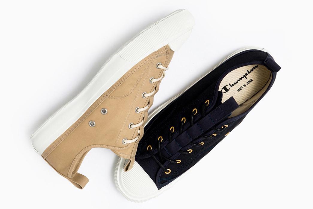 Champion-Sneaks-into-Made-in-Japan-Footwear-blue-beige-2