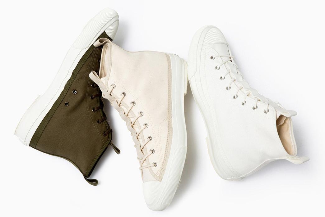 Champion-Sneaks-into-Made-in-Japan-Footwear-green-beige-white