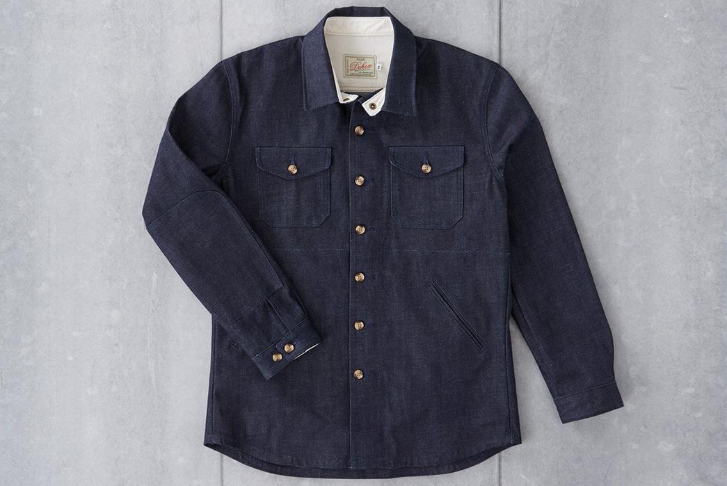 Dehen 1920 Crissman Overshirt Raw Denim Jacket