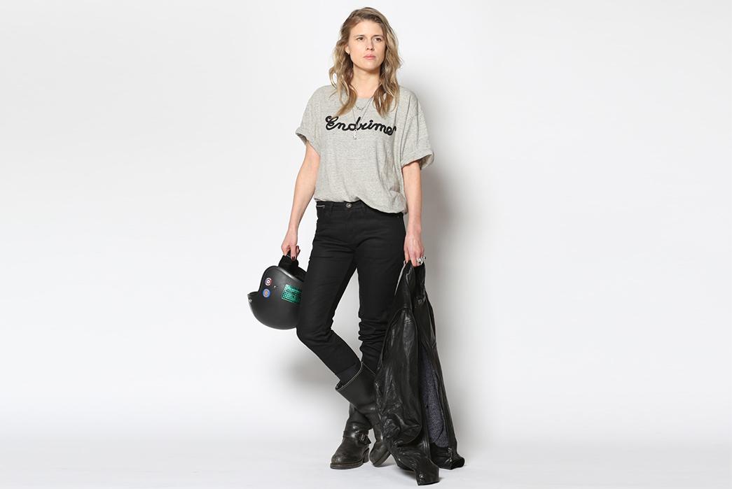 Endrime-L1095KA06RIN-New-Skinny-Selvage-Jeans-female-with-helmet