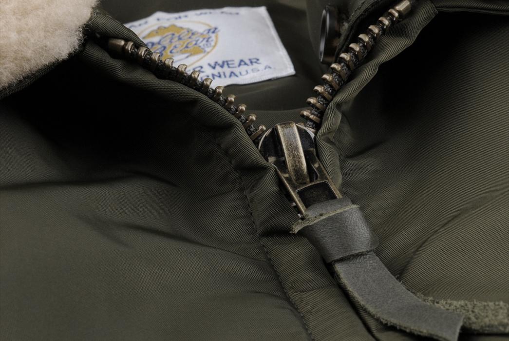 Golden-Bear-x-Unionmade-Aviator-Bomber-front-open-zipper-and-inside-label