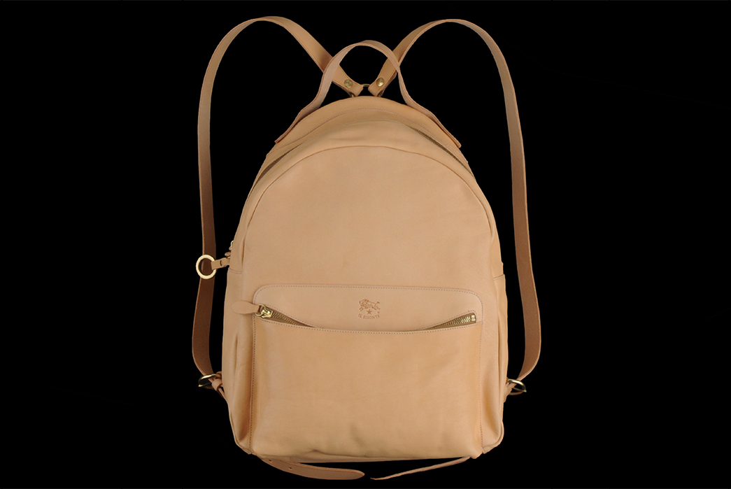 Il-Bisonte-Natural-Cowhide-Classic-Backpack-front