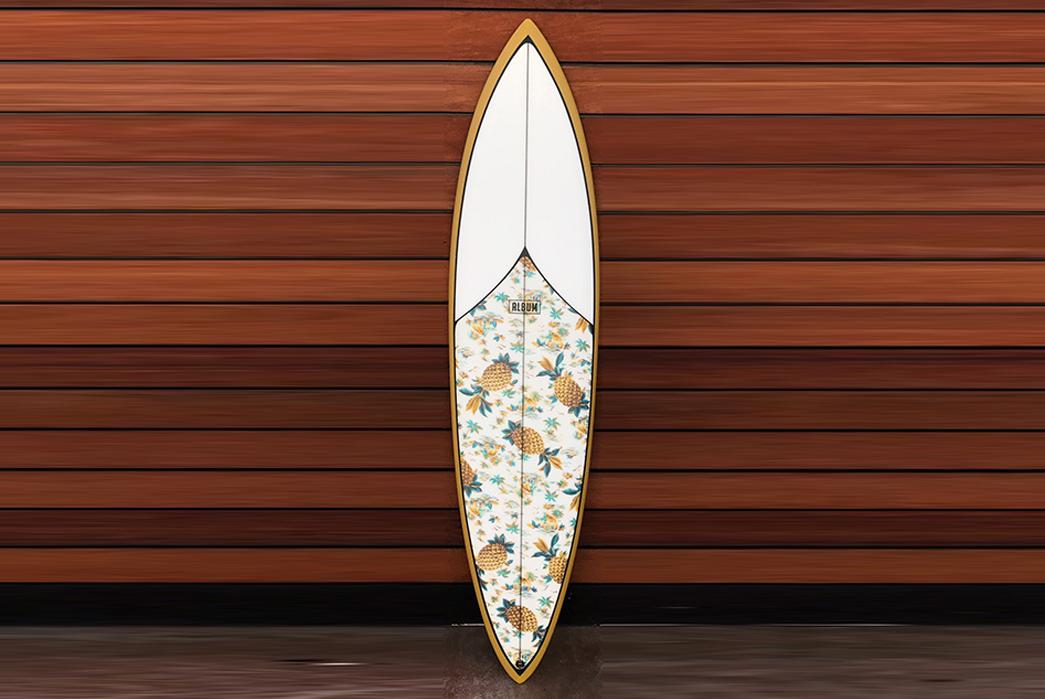 Ledge-GL-Collab-X-Freenote-Cloth-Surfboard-front-recumbent