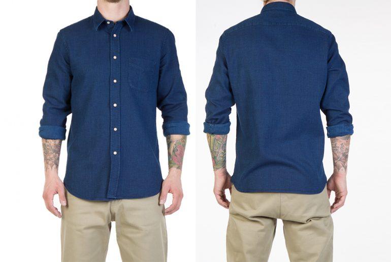 Livid-Jeans-Kirby-Japan-Blue-Sashiko-Snap-Shirt-model-front-back</a>