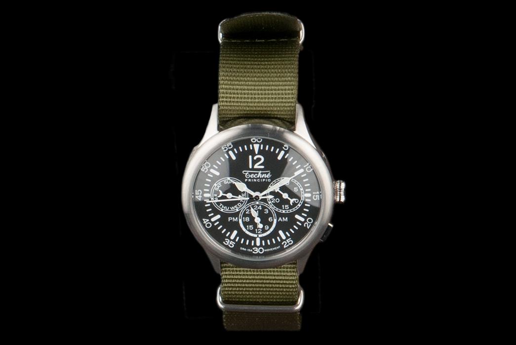 Minimalist-Quartz-Chronograph-Watches---Five-Plus-One-2)-Techne-Merlin-296-Steal-Quartz