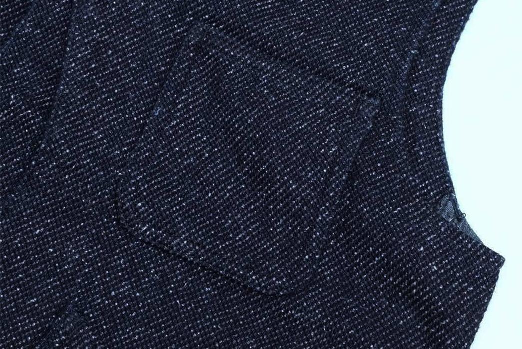 Momotaro-Indigo-Tweed-Hunting-Vest-pocket