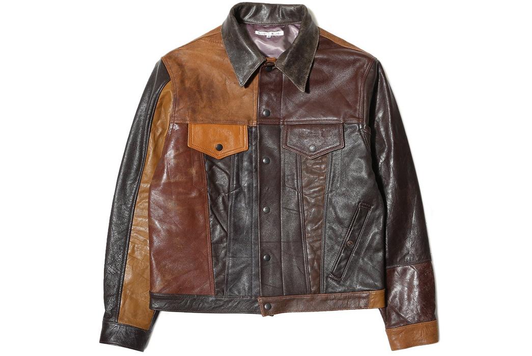 Needles-Rebuild-Leather-Jean-Jacket-front