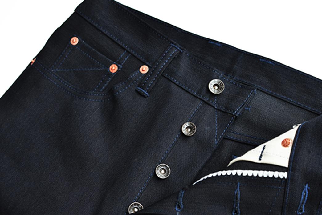 Sage-Rover-14oz.-Indigo-x-Black-Jeans-front-top-open