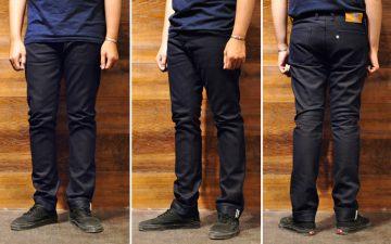 Sage-Rover-14oz.-Indigo-x-Black-Jeans-model-front-side-back