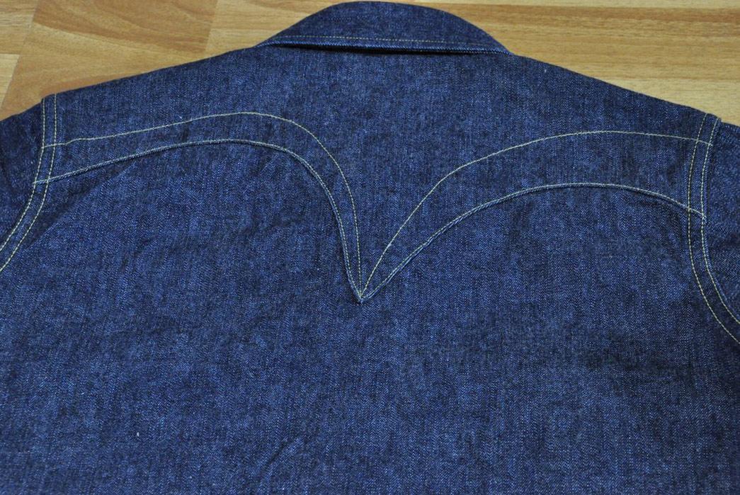 Samurai-10.5oz-Western-'Blade-Star'-Denim-Shirt-back