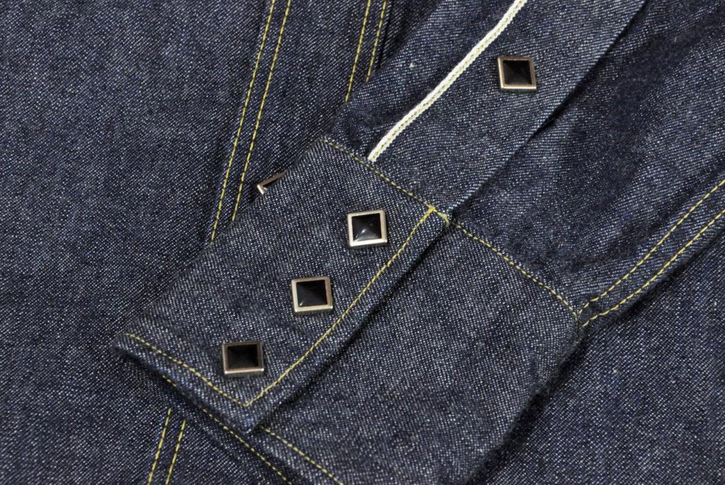 Samurai-10.5oz-Western-'Blade-Star'-Denim-Shirt-front-sleeves-buttons