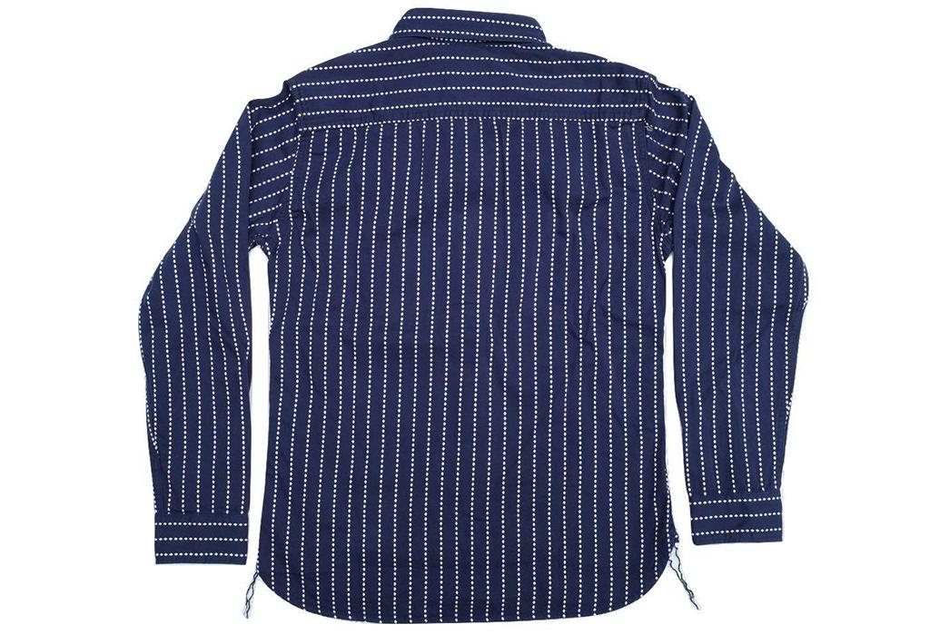 Studio-D'artisan-5596-Dobby-Sashiko-Work-Shirt-back
