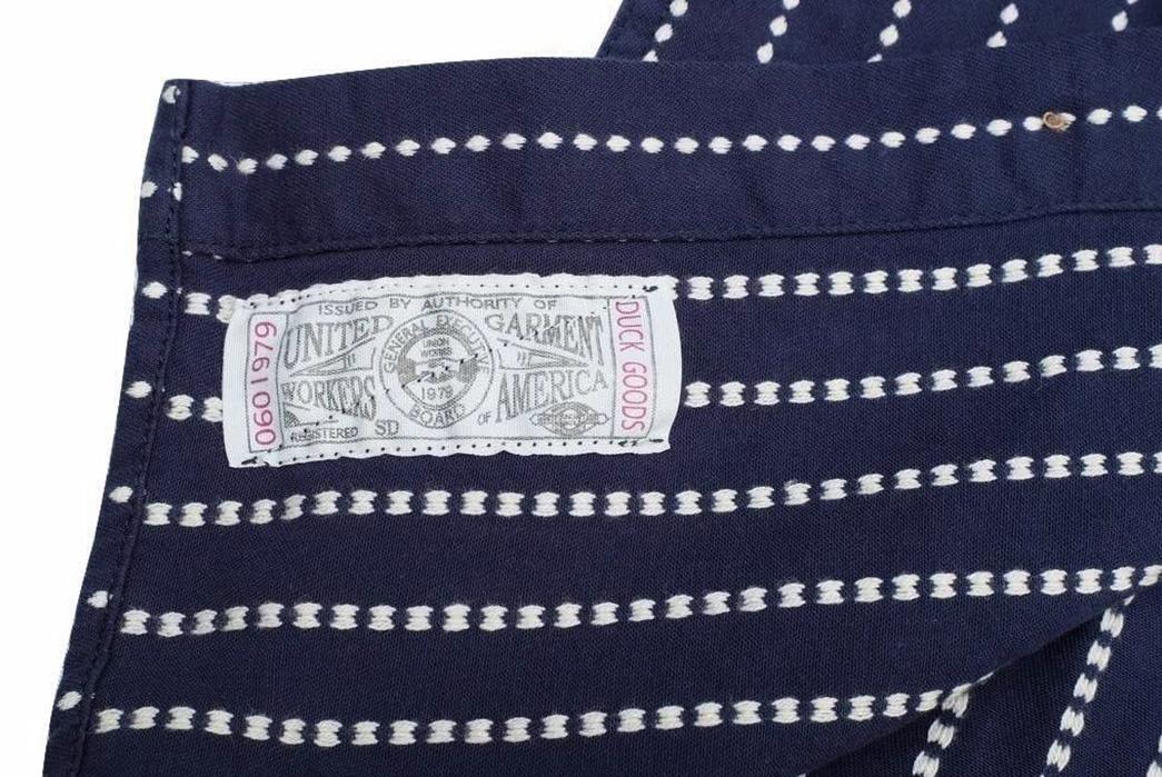 Studio-D'artisan-5596-Dobby-Sashiko-Work-Shirt-inside-label