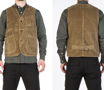 Tellason-Corduroy-Outdoor-Vest-model-front-back