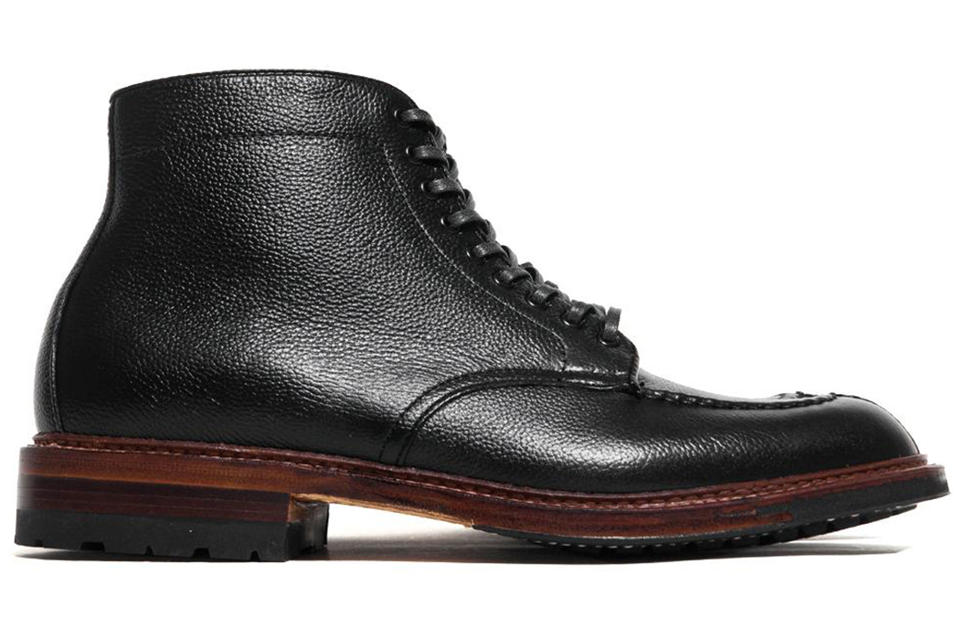 Things-Get-Grainy-with-the-Alden-x-Lost-&-Found-Black-Regina-Grain-Tanker-Boot-side