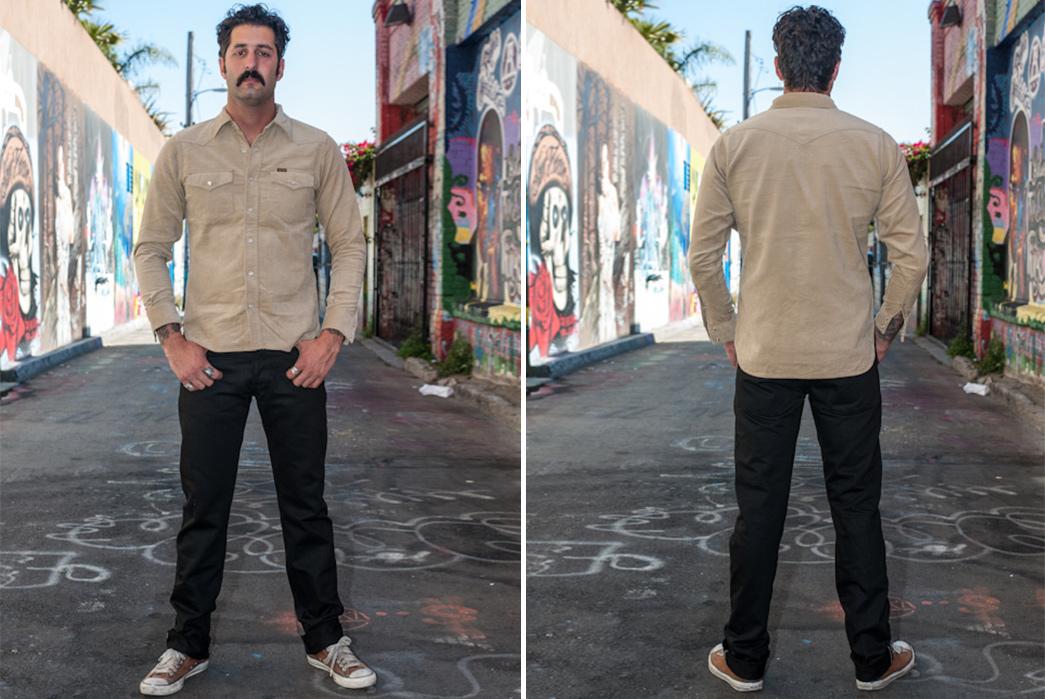3sixteen-SL-220x-Black-Raw-Denim-Jeans-model-front-back