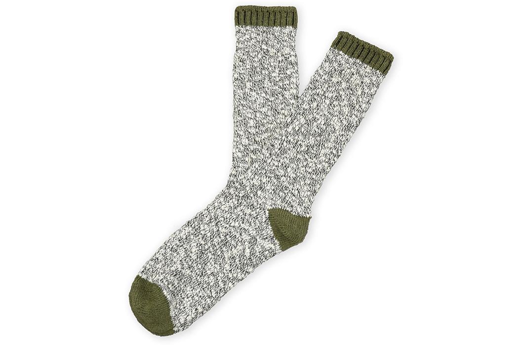 American-Trench-Slub-Socks-green