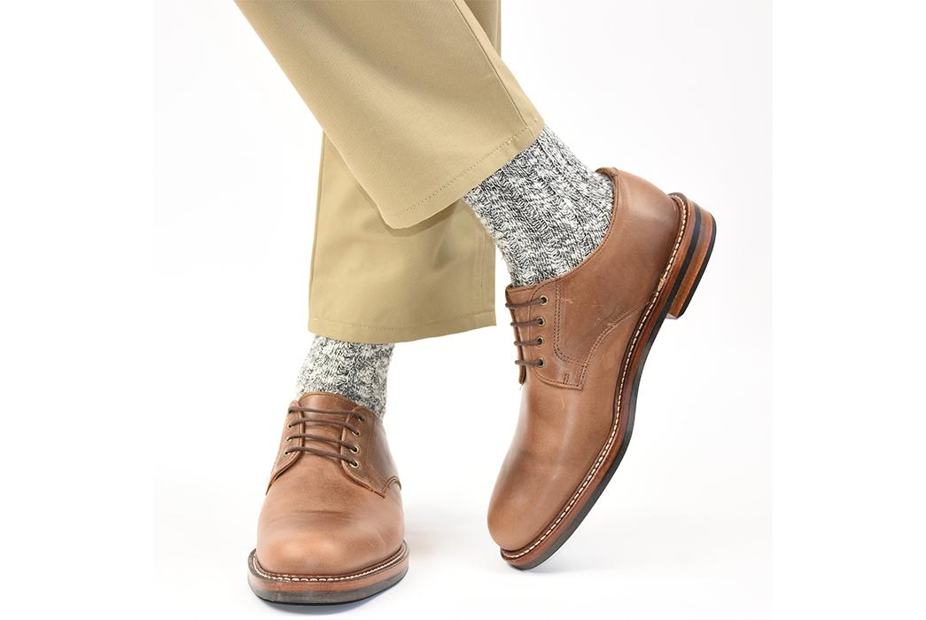 American-Trench-Slub-Socks-model-grey