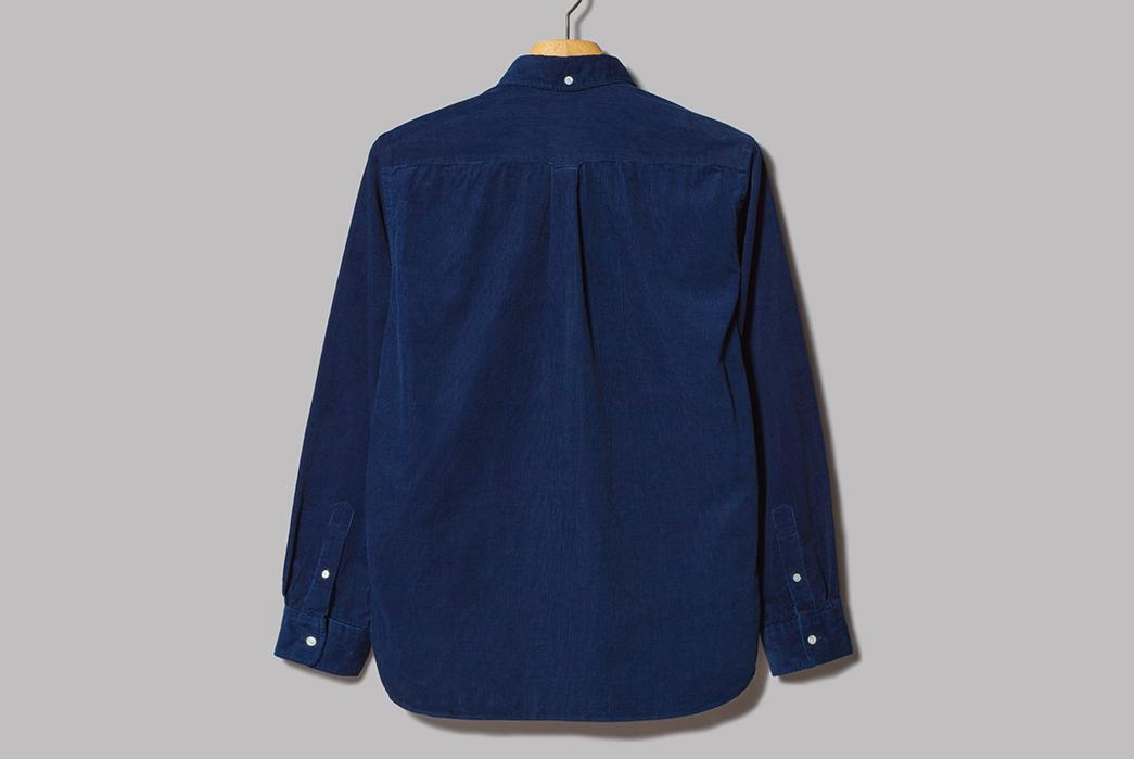 Beams-Plus-Made-in-Japan-Indigo-Corduroy-Button-Down-Shirt-back