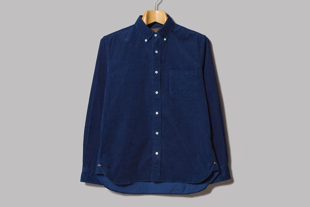 Beams-Plus-Made-in-Japan-Indigo-Corduroy-Button-Down-Shirt-front