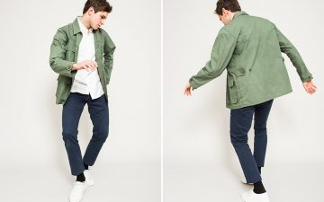 Corridor-Autumn-Winter-2017-Lookbook-male-with-green-jacket-and-blue-pants