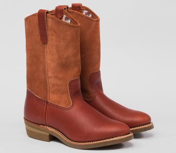 Eat-Dust-and-Red-Wing-Mix-Leathers-With-Their-Oro-Russet-Portage-Pecos-Boot-front-side