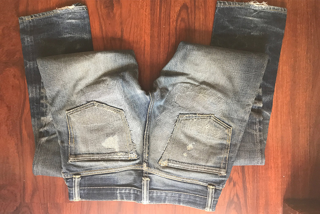 Fade-Friday---Skull-Jeans-5010XX-6x6-(22-Months,-2-Washes,-6-Soaks)-back-top