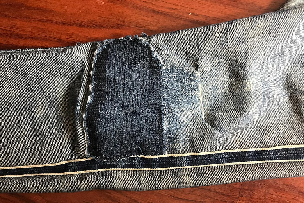Fade-Friday---Skull-Jeans-5010XX-6x6-(22-Months,-2-Washes,-6-Soaks)-leg-inside