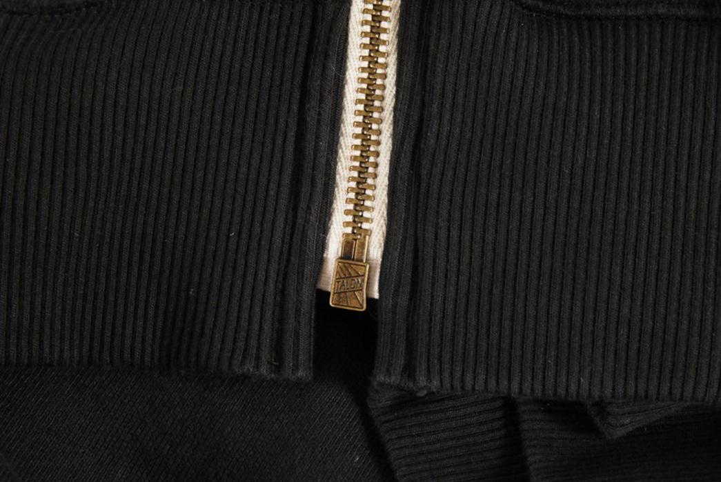 Left-Field-18oz.-Terry-Hooded-Sweatshirt-front-down-zipper
