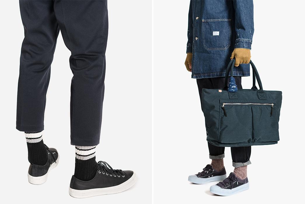 Maple's-Fall-Winter-2017-Lookbook-is-Black-and-Blue-bag-on-legs